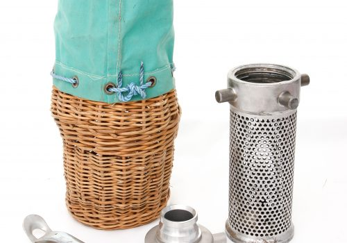 Wicker Basket and Strainer